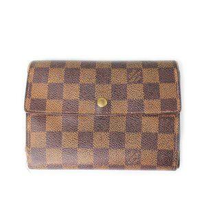 Vintage Louis Vuitton Monogram Damier Ebene Wallet